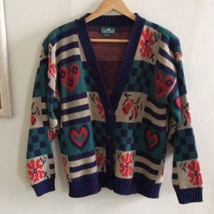 Vintage heart cardigan - perfect condition!